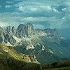 Stormclouds over the Rosengarten Mountains, South Tyrol, Italy