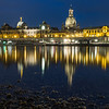 On the Shores of the Elbe at Night, Dresden, Germany