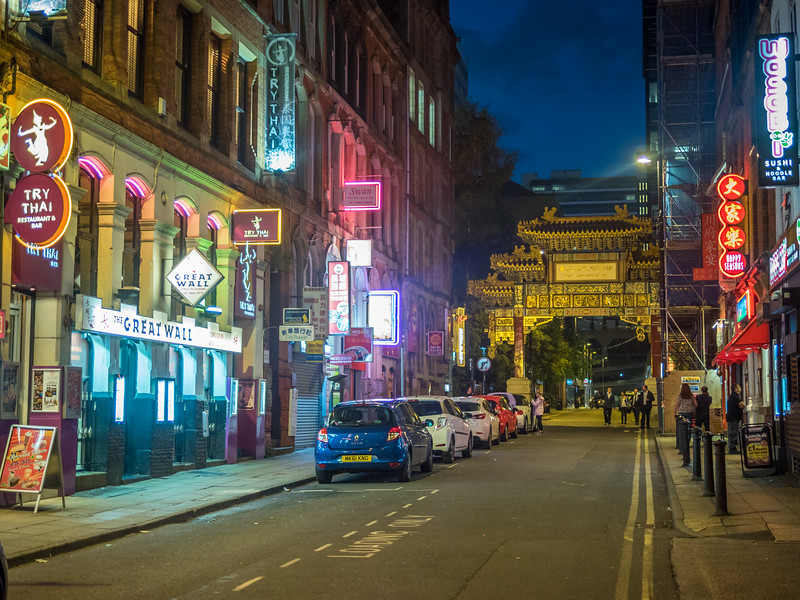 Night in Chinatown, Manchester, England