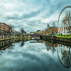 Canal Pool and Ferris Wheel, Liverpool, England