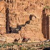 Bedouin Camels and the Tombs, Petra, Jordan