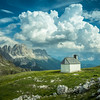 Lonely Chapel and the Mountains, South Tyrol, Italy
