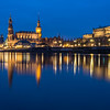 The Hofkirche and the Semperoper on the Elbe, Dresden, Germany