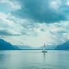 Trainquility on Lake Geneva, Vevey, Switzerland