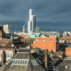 Manchester Skyline from the University District, England
