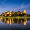 Night Reflections of Wawel Castle on the Vistula, Kraków, Poland