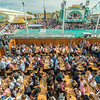 Biergarten and Crowds outside the Hofbräuzelt, Oktoberfest, Munich