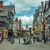 Looking towards Eastgate, Chester, England