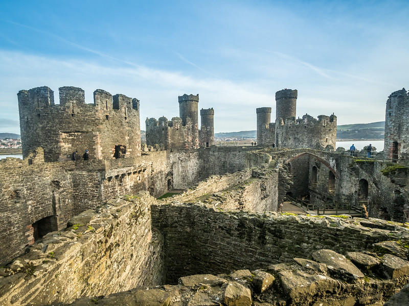 Above Conwy Castle, Wales