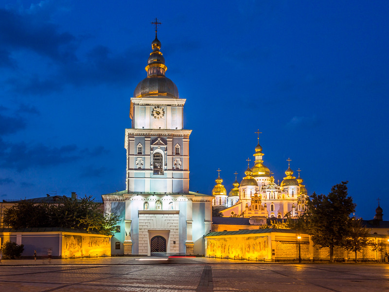 Night on St Michael's Monastery, Kiev, Ukraine