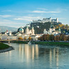 Salzburg Reflected in the Salzach, Austria
