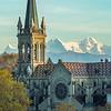 Church and the Alps, Bern, Switzerland