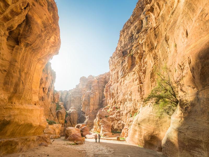 Sunlight in the Siq, Petra, Jordan
