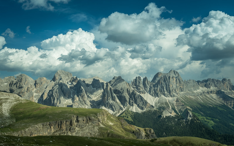 The Rosengarten under the Clouds, South Tyrol, Italy