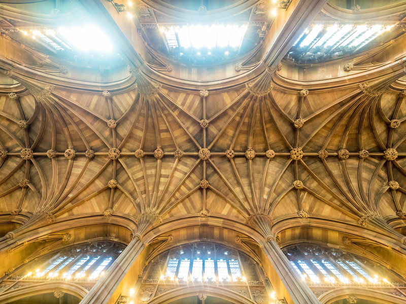 Gothic Ceiling of the Rylands Library, Manchester, England