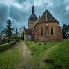 Pathways around the Dorfkirche, Lüssow, Germany