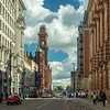 Along Oxford Street, Manchester, England