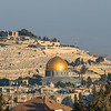 The Dome of the Rock against the Cemetery of the Mount of Olives, Jerusalem