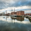 Winter Clouds above the Albert Docks, Liverpool, England