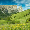 Moment in Seiser Alm below the Schlern, South Tyrol, Italy