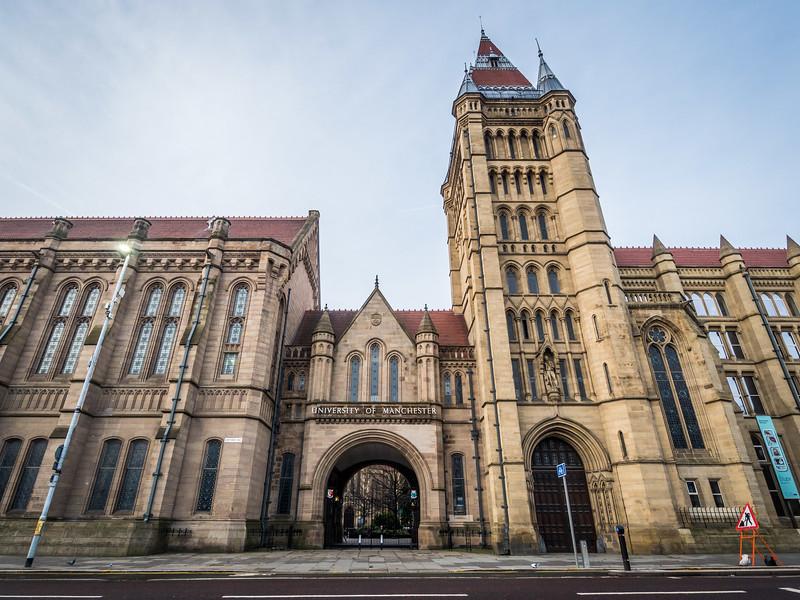 Manchester University Entrance, England