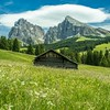 The Hut in the Meadow, Seiser Alm in South Tyrol, Italy