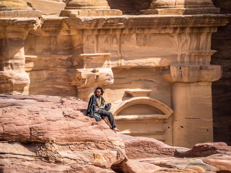 Bedouin on a Break, Petra, Jordan