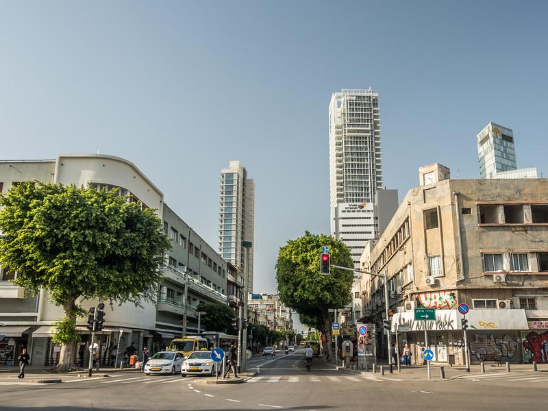 Heading Up Allenby St., Tel Aviv, Israel