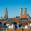 Munich Spires above Winter Rooftops