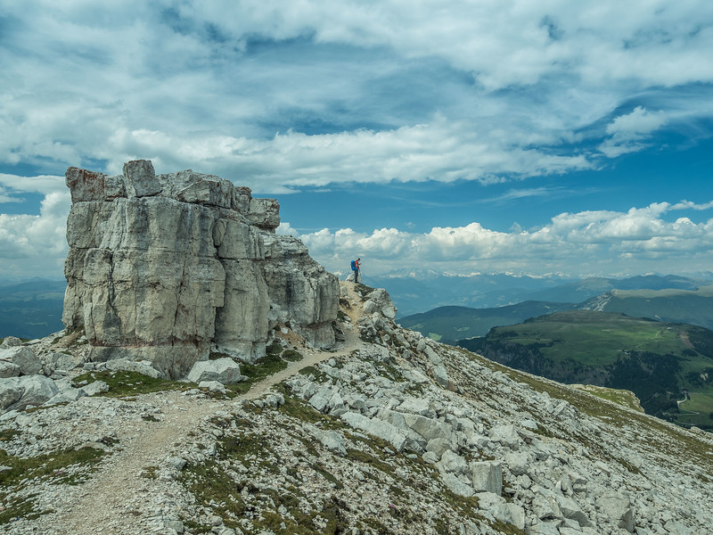 Rocky Outcrop atop the Schlern, South Tyrol, Italy