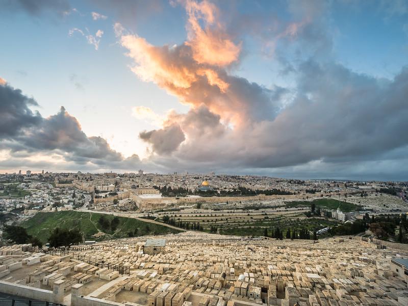 Sunset Clouds over Jerusalem