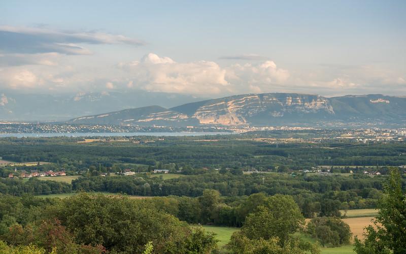 Geneva from the Jura Hills, France