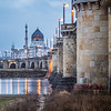 The Yenidze and the River, Dresden, Germany