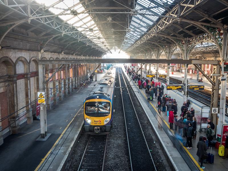 Inside the Preston Train Station, England