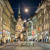 Night Scene on the Marktgasse, Bern, Switzerland