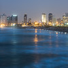 Night on the City by the Sea, Tel Aviv, Israel