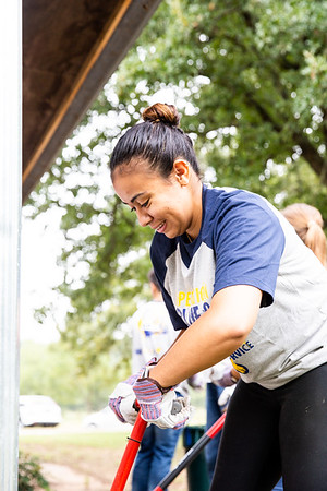 "Operation Blue & Gold was a day of service full of opportunities for students to venture outside the campus and say ""thank you"" to the Commerce community through service-oriented projects."
