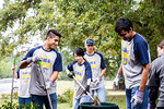 """Operation Blue & Gold was a day of service full of opportunities for students to venture outside the campus and say """"thank you"""" to the Commerce community through service-oriented projects."""