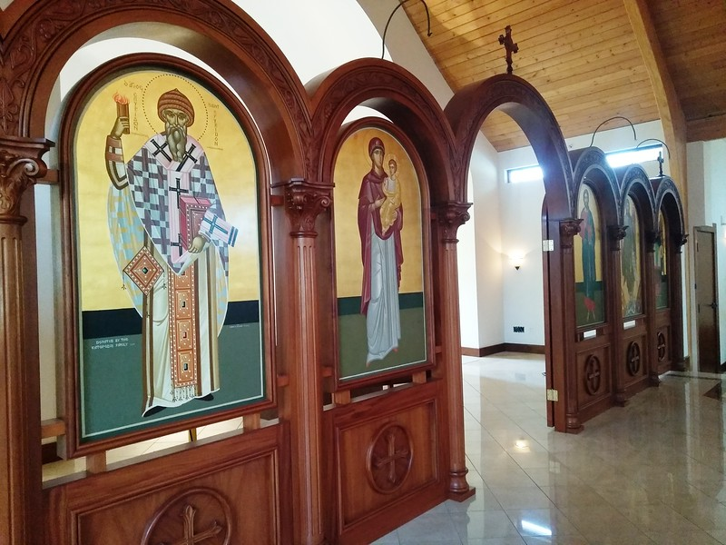The icon screen in front of the altar table is one of the features in the new sanctuary at St. Spyridon Orthodox Church. (Photo by Shelley Widhalm/ Special to the Loveland<br /> Reporter-Herald)