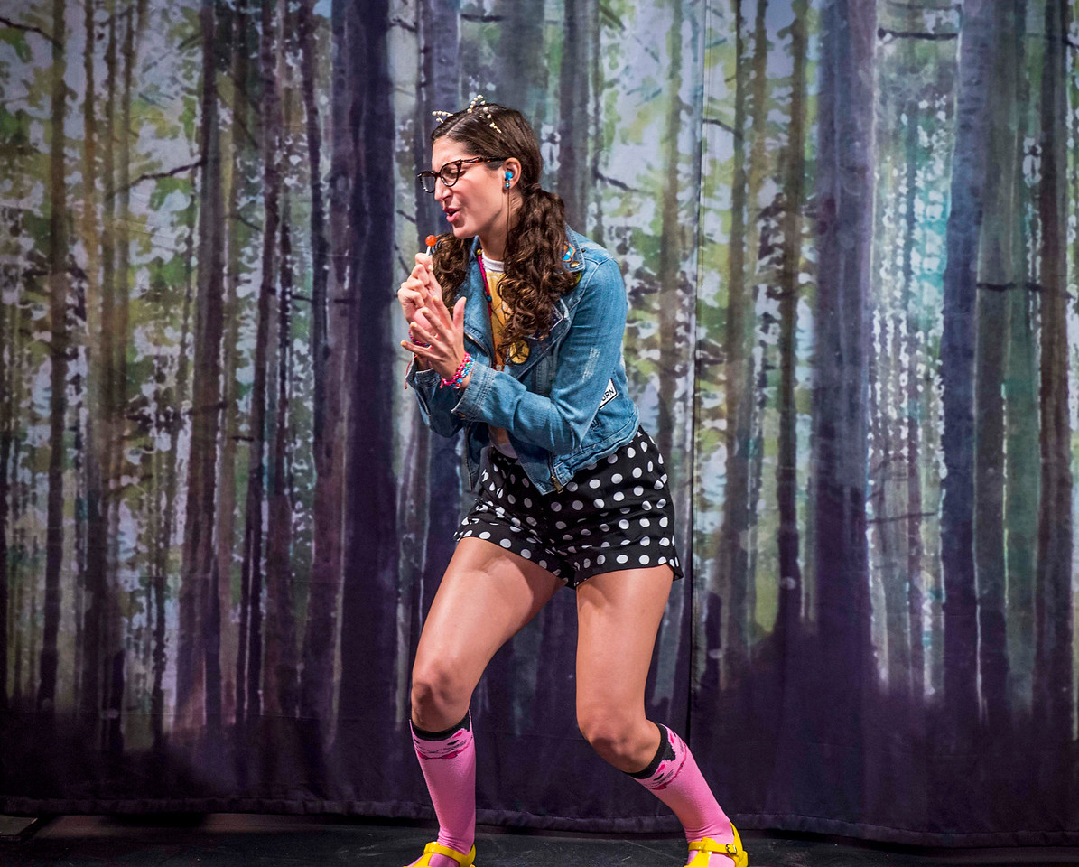 "Ally Farzetta in Asolo Rep's presentation of its 2015 New Stages Tour, an FSU/Asolo Conservatory for Actor Training production of ""Twelfth Night."" Photo by Cliff Roles."