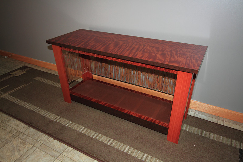 Makore and 3Form bench for Carrie's besty Dawn