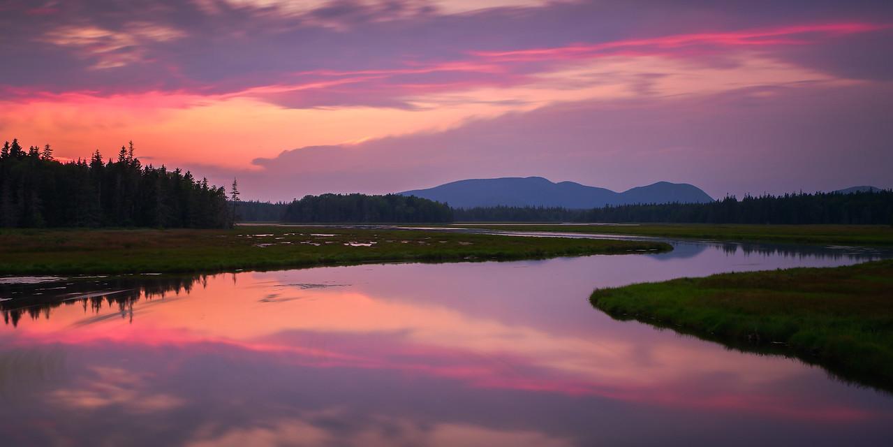 Sunset in Acadia