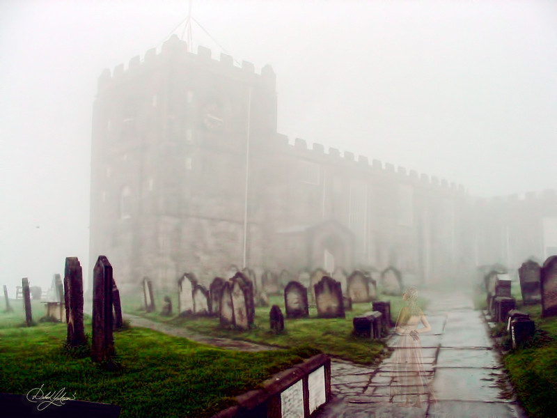 this was taken in the graveyard of St Mary's church outside of the Whitby Abby, in England