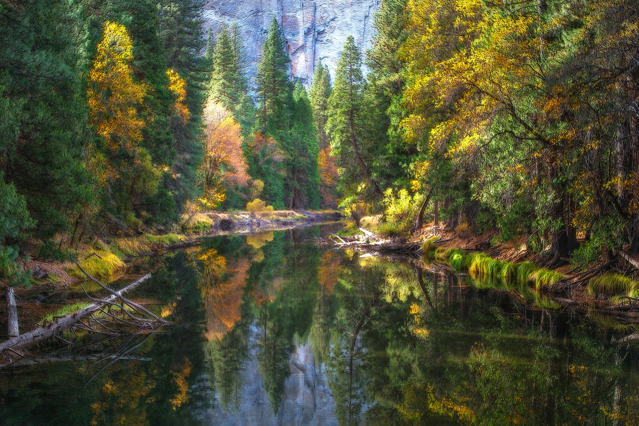 Merced River Reflection.