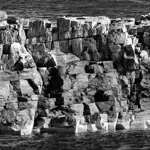 Fragmented Shoreline Rock