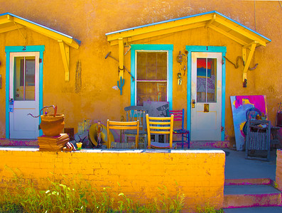 'Porch Art,' Barrio Viejo District, Tucson, AZ, 2017.