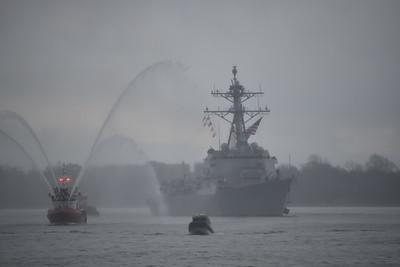 "New ""USS Thomas Hudner"" destroyer arrived"