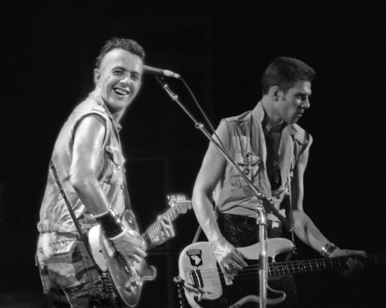 The Clash perform at the San Francisco Civic Center on June 22, 1982.