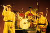 SAN FRANCISCO, CA-JUNE 29: Mark Mothersbaugh Devo performing at the Warfield Theater in San Francisco on June 29, 1979. (L-R): Mark Mothersbaugh, Alan Meyers, Gerald Casale. (Photo by Clayton Call/Redferns)