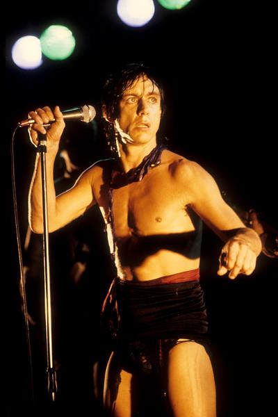 Iggy Pop at the Old Waldorf nightclub in San Francisco on 11-24-81.